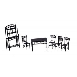 1/2in Dining Set/6/blk/cb