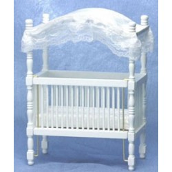 White Canopy Crib