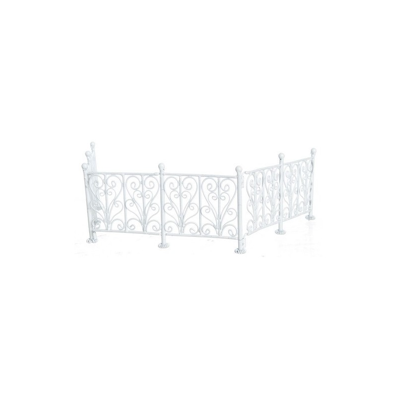 wrought iron fence  wh  6pc