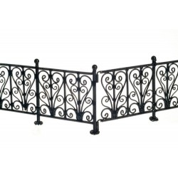 Wrought Iron Fence/bl/6pc