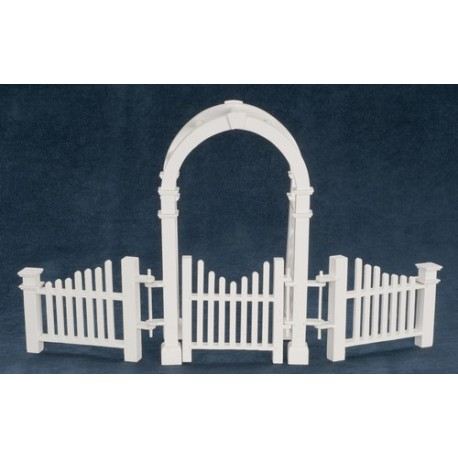 Arbor W Gate Amp Fence Dollhouse Fencing Amp Retaining Walls