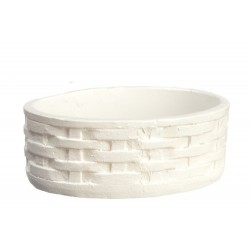 Oval Basket/white