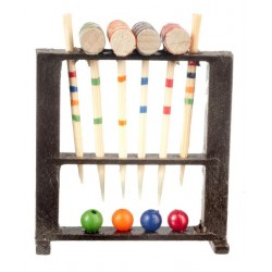 Wood Croquet Set