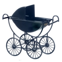 Metal Baby Carriage/black