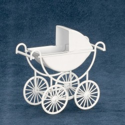 Metal Baby Carriage/white