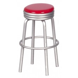 1950's Style Red Stool/cb