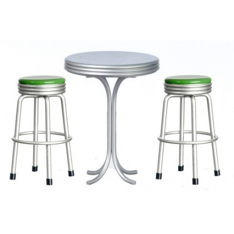 Tall Table w/2 Stool/dk.g