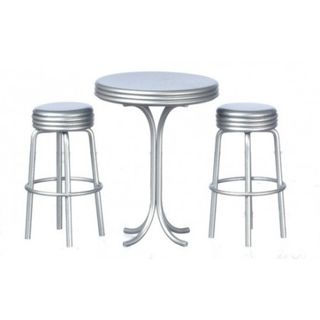 Tall Table w/2 Stools/sil
