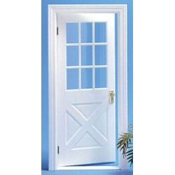 Colonial Crossbuck Door w/Mullion