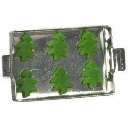 XMAS TREE COOKIES ON SHEET