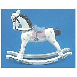 Rocking Horse in White & Gray