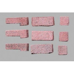 RED BLEND BRICK CORNER, 125 PCS