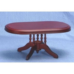Mahogany Oval Dining Room Table