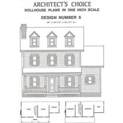 Dollhouse Blue Print Plan 5