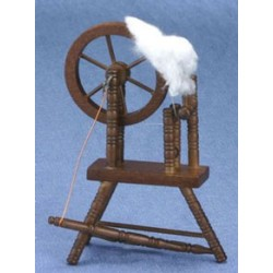 Walnut Spinning Wheel
