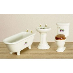 Bathroom Set, 3Pc, Decal/Cs