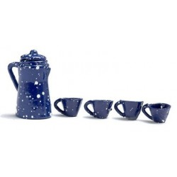 Spatter Coffee Set, Blue