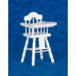 High Chair, White/Cb