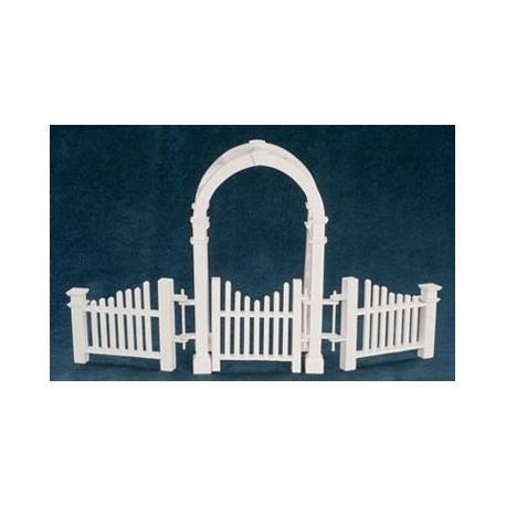 Arbor W/ Gate And Fence