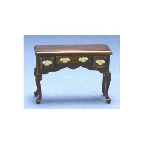 miniature walnut office desk dollhouse office furniture