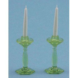 Candlesticks in Green