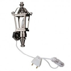 Nickel Lantern Coach Light, 12V