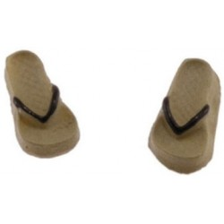 Flip Flops, Tan and Brown, Small