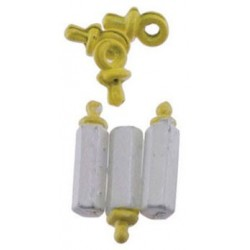 Yellow Baby Bottles and Pacifiers Set, 6pc