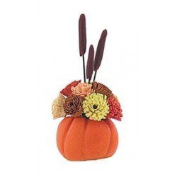PUMPKIN W/FLORAL ARRANGEMENT