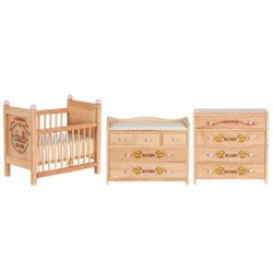 Baby Room Set/3/Oak W/Abc
