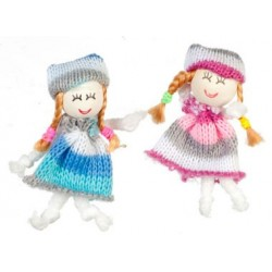Cute Blue & Rose Dolls