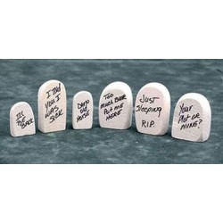 6 Assorted Tombstones