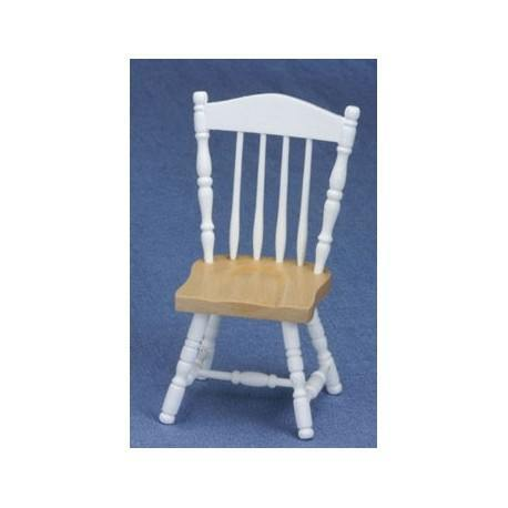 Oak & White Chair