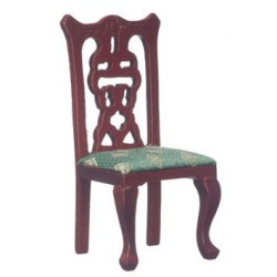 Side Chair, Mahogany, Green