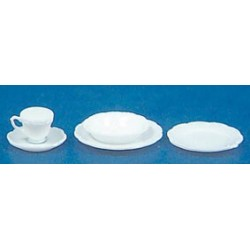 ONE PLACE SETTING, 5PC/WHITE