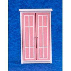 Armoire, Pink, White
