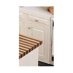 Assembled Cabinet, 1 1/2 in Base, White