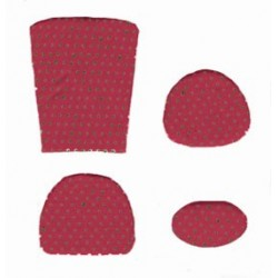 CUSHION KIT, RED MINI DOT