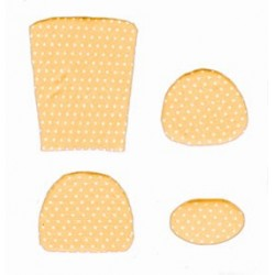 CUSHION KIT, YELLOW MINI DOT