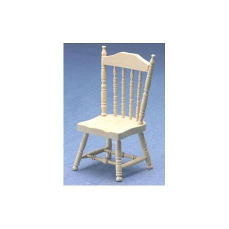 spindle side chair unfinished dollhouse dining room
