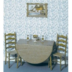 Miniature Dining Room Tables | Dollhouse Dining Room Furniture ...