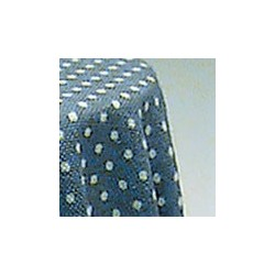 SKIRTED TABLE-BLUE MINI DOT