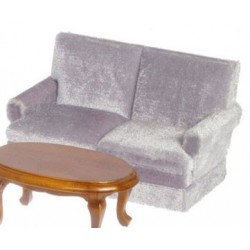 Trad. Love Seat, Gray, Walnut