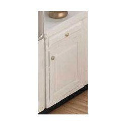 Assembled Cabinet, 2 in Base, White