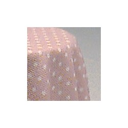 SKIRTED TABLE-PINK MINI DOT