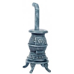 Pot Belly Stove, Gray