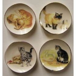 Yellow Kitten Plates