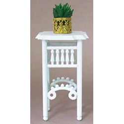 PLANT STAND W/PLANT, WHITE