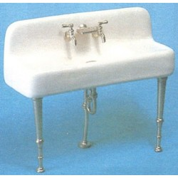 Porcelain Kitchen Sink W/Metal Legs