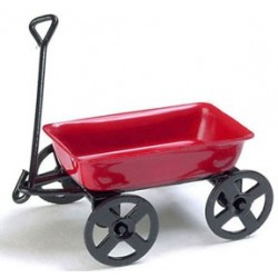 Metal Wagon  Red  1/2 In